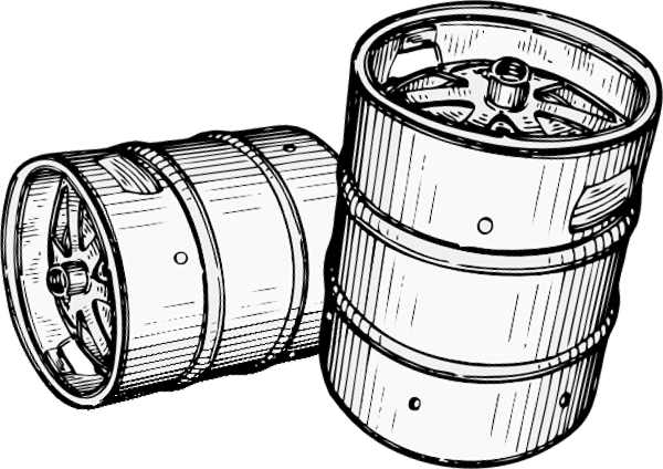 Beer barrel clipart drawing picture freeuse stock Download Free png beer kegs clipart - DLPNG.com picture freeuse stock