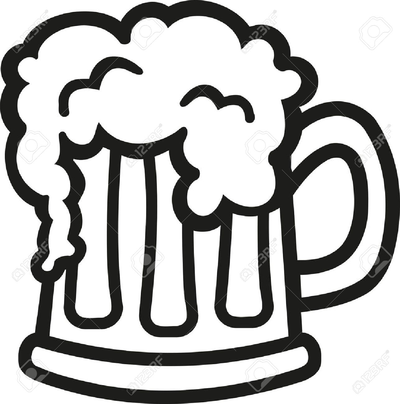 Beer stein clipart black and white banner royalty free library Beer clipart black and white 6 » Clipart Station banner royalty free library