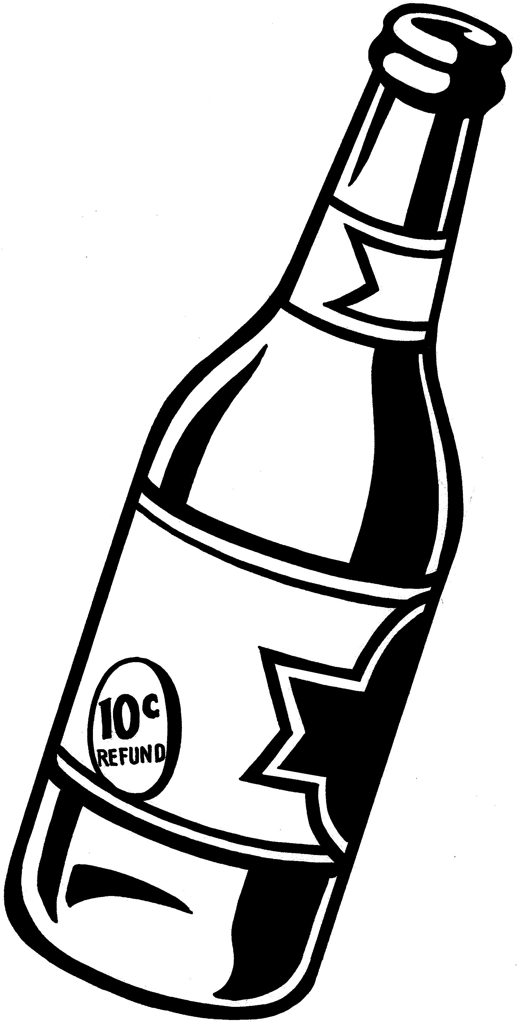 Mini bar black and white siloette clipart