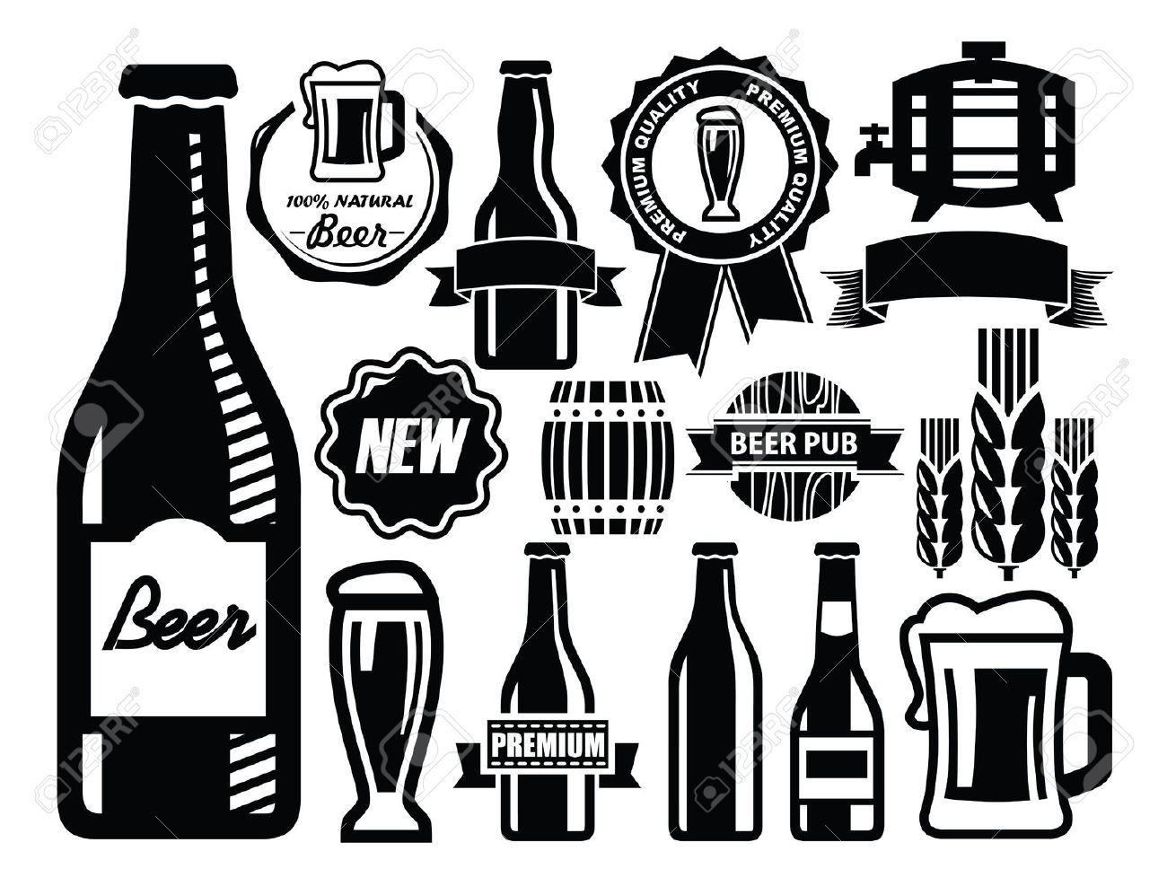 Beer bottle cheers clipart black and white vector royalty free download Cheers Beer Stock Vector Illustration And Royalty Free Cheers Beer ... vector royalty free download