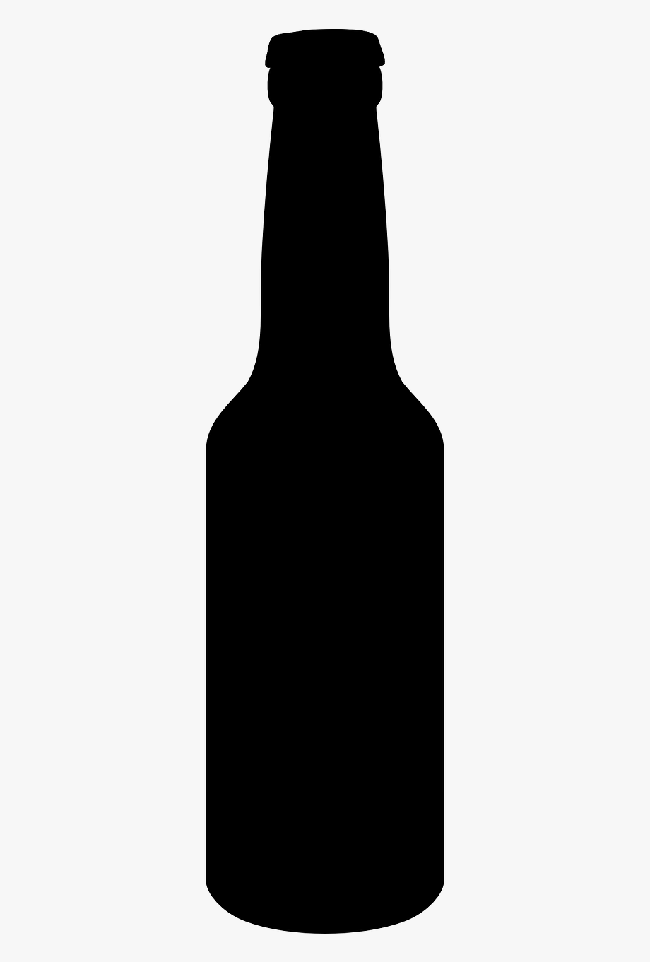 Beer bottle clipart black and white picture download Beer Bottle Silhouette #903583 - Free Cliparts on ClipartWiki picture download