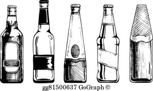 Free beer bottle clipart clip black and white library Beer Bottle Clip Art - Royalty Free - GoGraph clip black and white library