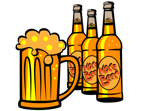 Beer bottle with his in it clipart jpg library Free Beer Bottle Cliparts, Download Free Clip Art, Free Clip Art on ... jpg library