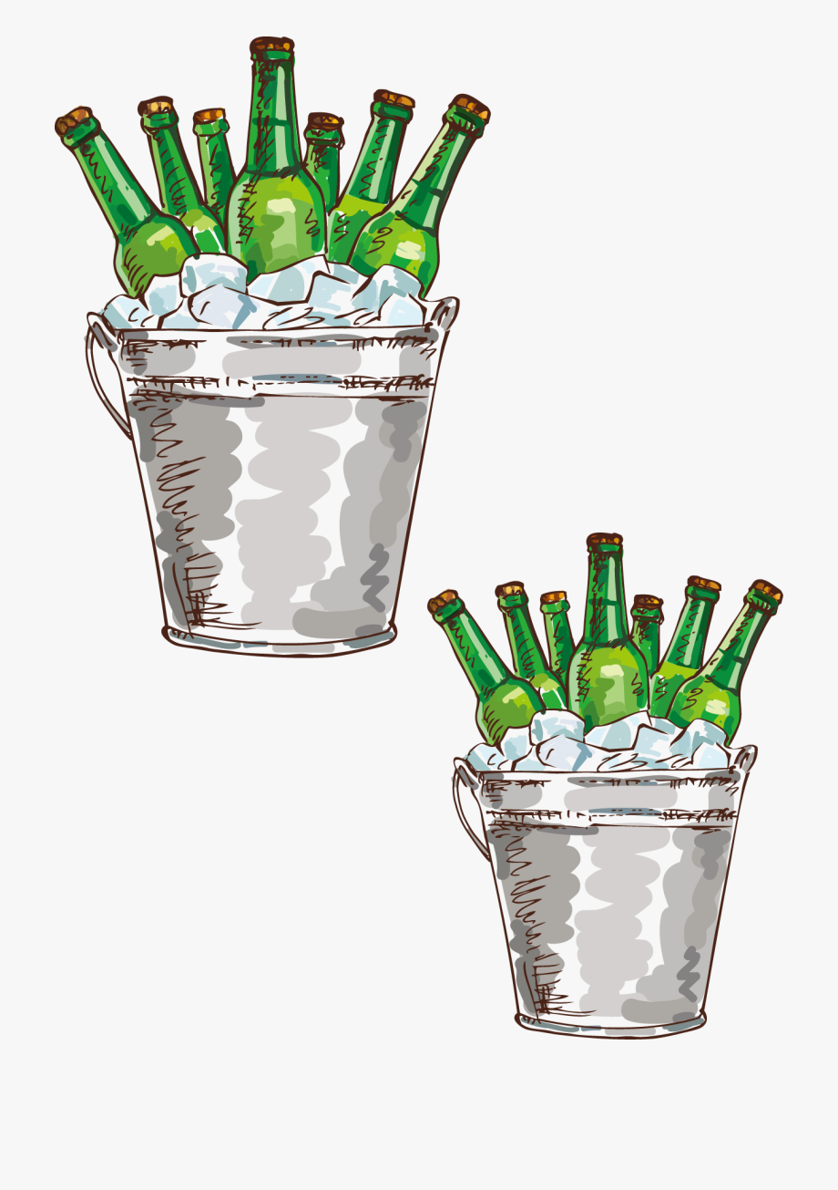 Beer bucket clipart clip art transparent download Spring Ideas Illustration Beer Bottle Party Drawing - Beer Bucket ... clip art transparent download