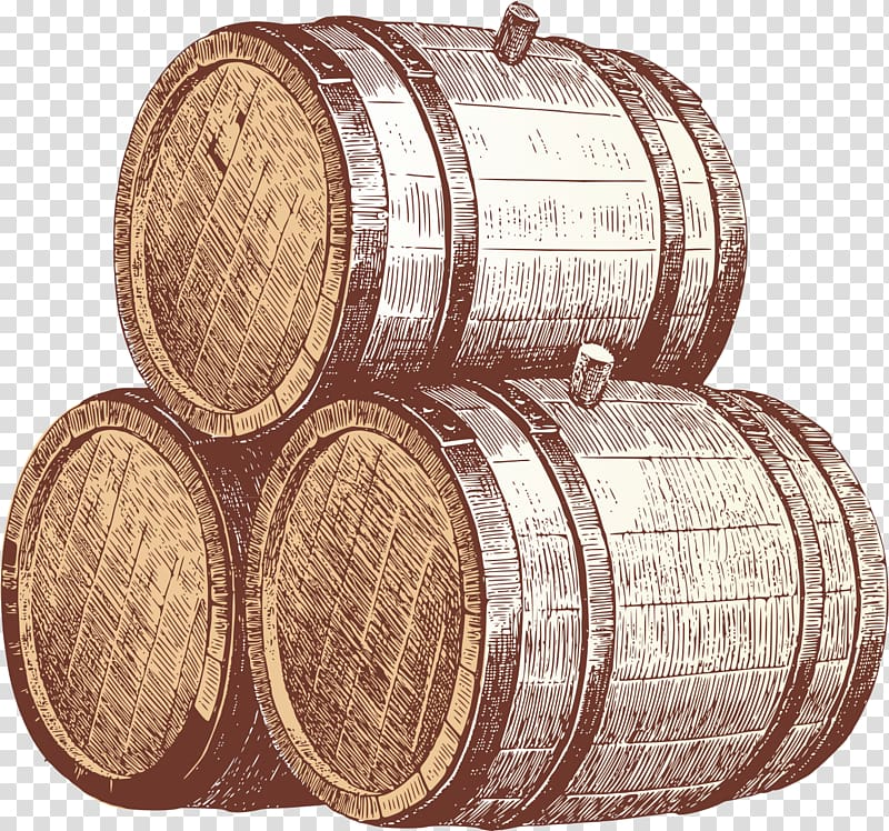 Beer cask clipart svg library stock Pile of brown wine barrels, Beer Wine Cask ale Barrel, Painted red ... svg library stock