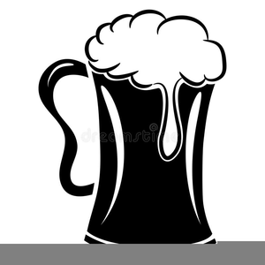 Beer clipart black and white clipart transparent stock Beer Mug Clipart Black White | Free Images at Clker.com - vector ... clipart transparent stock