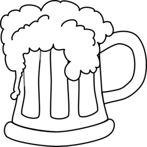 Beer clipart black and white png royalty free library Beer Mug Outlined 2 Clip Art at Clker.com - vector clip art online ... png royalty free library