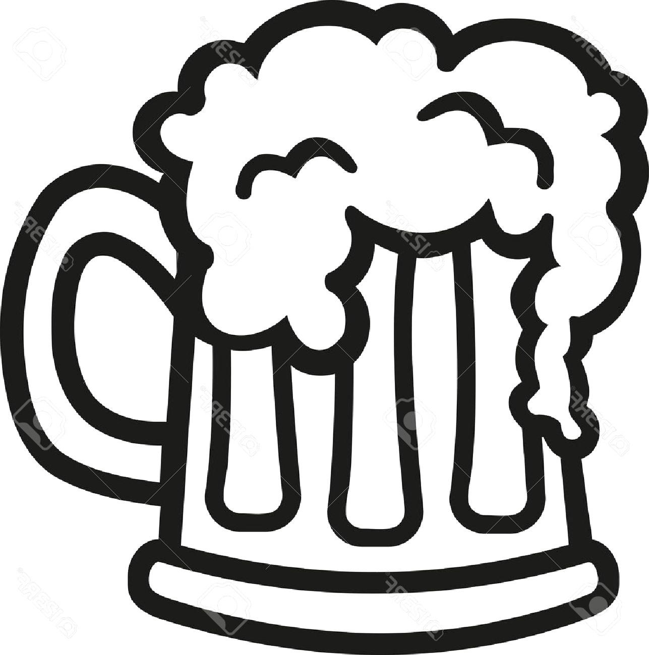 Beer clipart black and white transparent stock Top Beer Glass Clip Art Black And White Cdr » Free Vector Art ... transparent stock