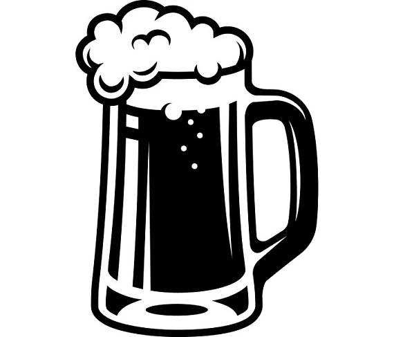 Beer mugs clipart black white jpg library library Beer Stein Clipart | Free download best Beer Stein Clipart on ... jpg library library