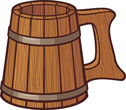 Beer clipart medieval free library Amazon.com: Cool Wooden Medieval Times Beer Mug Cartoon Vinyl Decal ... free library