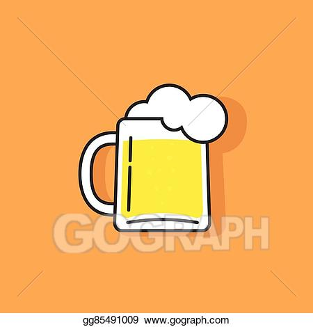 Beer glass foam clipart icon banner download Vector Clipart - White beer glass with foam vector logo icon. Vector ... banner download