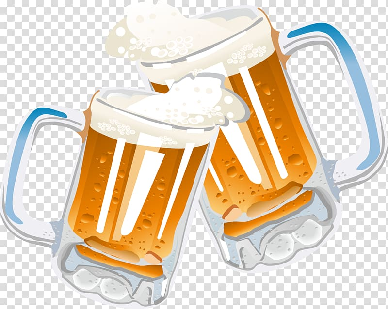Beer glass mug clipart clipart freeuse library Two clear beer mugs illustration, Beer glassware Drink , Cheers ... clipart freeuse library