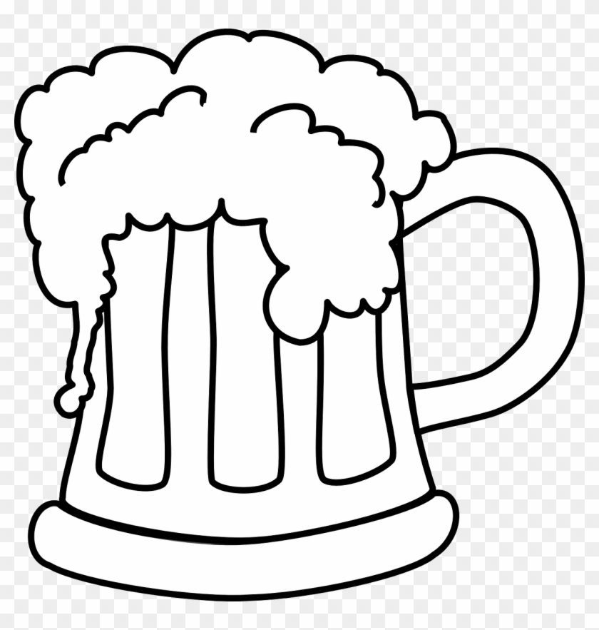 Beer glasses clipart black white graphic free library Beer Mug White Png - Cartoon Beer Black And White, Transparent Png ... graphic free library