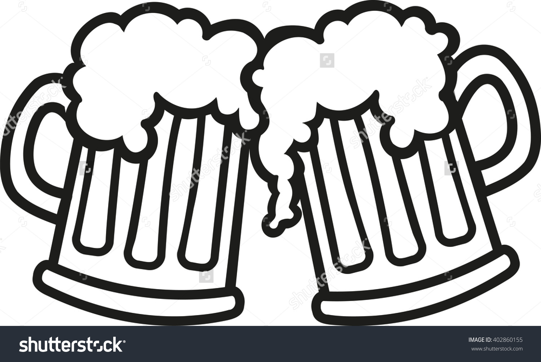 Beer mug toast black and white siloette clipart graphic transparent download Beer Mug Cliparts | Free download best Beer Mug Cliparts on ... graphic transparent download