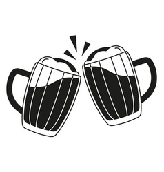 Beer mug toast black and white siloette clipart png free library Cheers Toast Black and White Vector Images (over 220) png free library