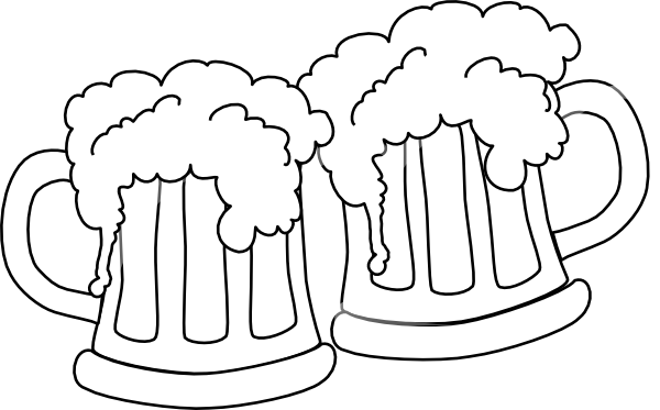 Beer mug toast black and white siloette clipart clipart royalty free download Free Cheers Silhouette, Download Free Clip Art, Free Clip Art on ... clipart royalty free download