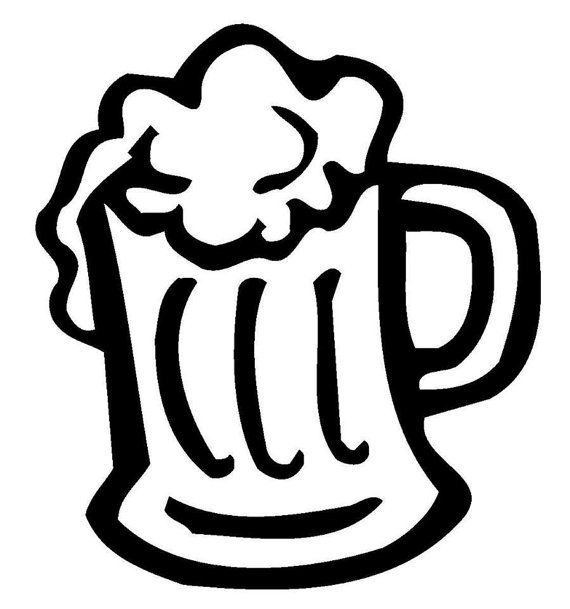 Beer mugs clipart black white freeuse library Pin by Karen Richey on cricut | Beer mug clip art, Beer art, Beer ... freeuse library