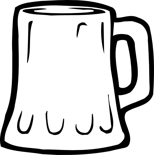 Beer mugs clipart black white clipart black and white download Beer Mug Black And White Clip Art at Clker.com - vector clip art ... clipart black and white download