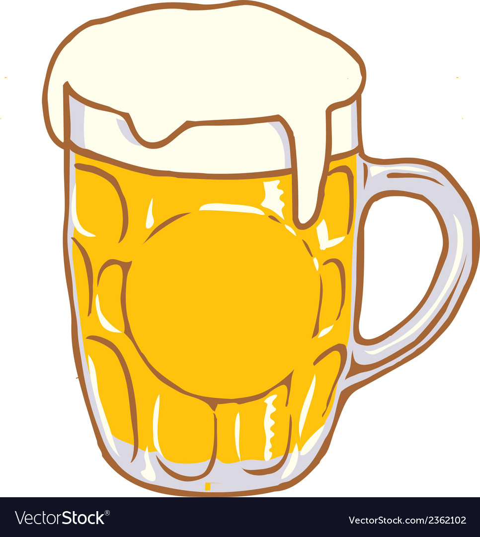 Beer pint glass clipart svg free stock Beer Mug Pint Clipart Design D svg free stock