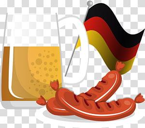 Beer pretzel brat clipart svg freeuse Beer Sausage Hot dog Oktoberfest Pretzel, Hot Dog Beer transparent ... svg freeuse
