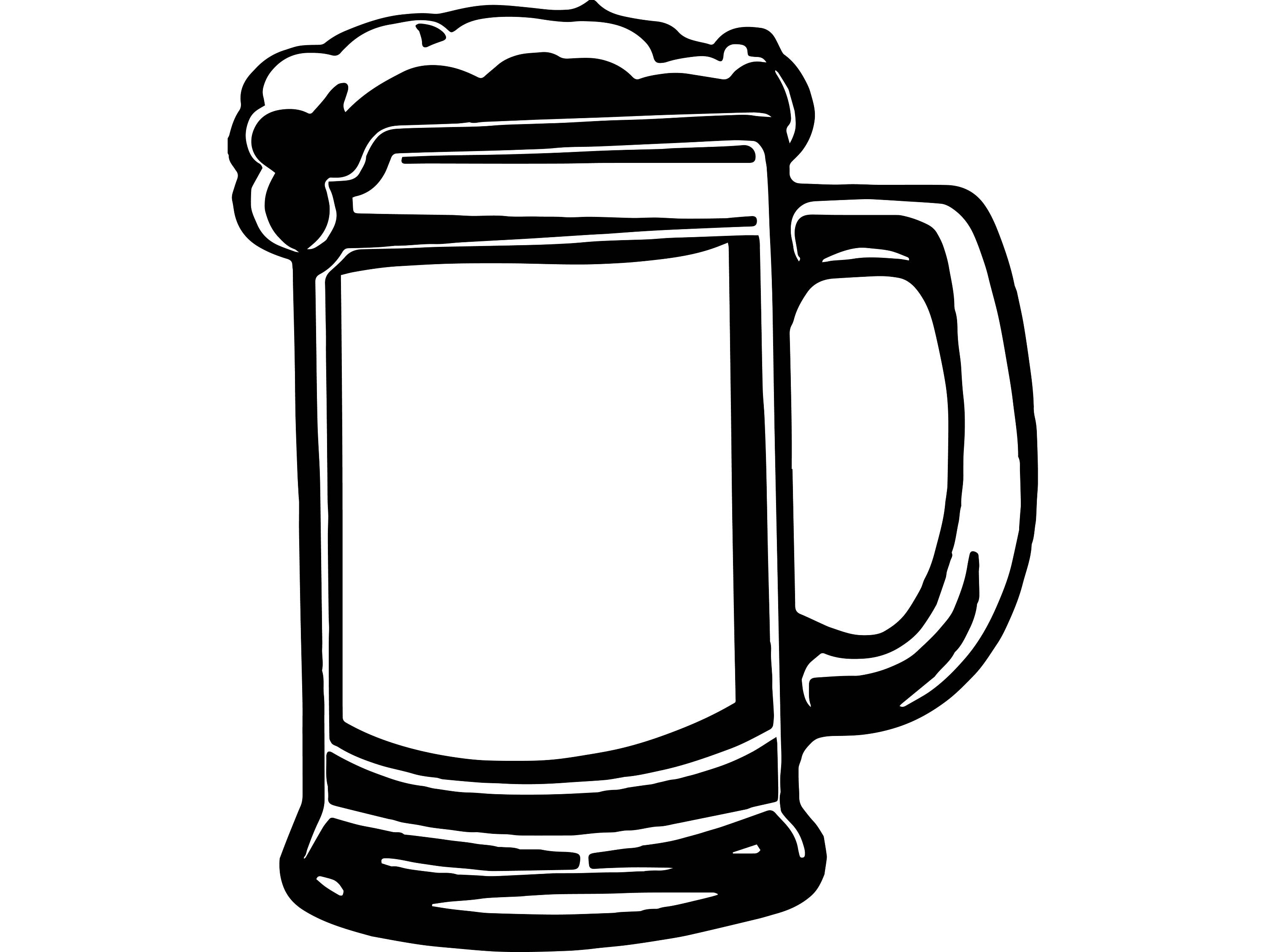Beer stein outline image free clipart pdf vector royalty free Beer Glass Drawing | Free download best Beer Glass Drawing on ... vector royalty free