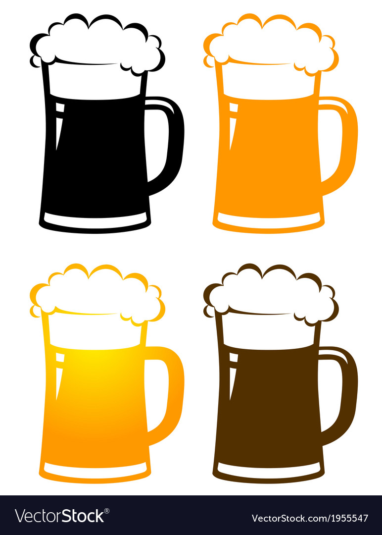 Beer stein outline image free clipart pdf clip art transparent stock Set of colorful beer mugs with foam clip art transparent stock