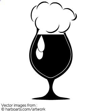 Beer tulip clipart jpg free Download : Black Tulip Glass - Vector Graphic jpg free