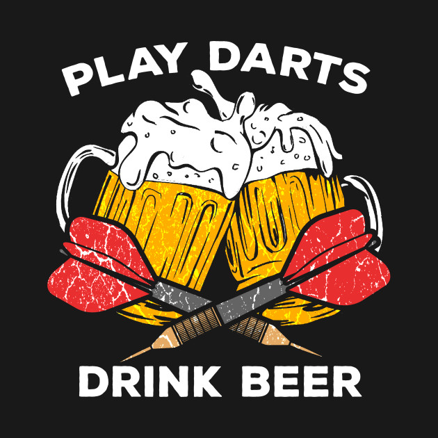 Beers and darts clipart banner free Funny Darts play dart drink Beer Team Player Pub Gift by mrteee banner free