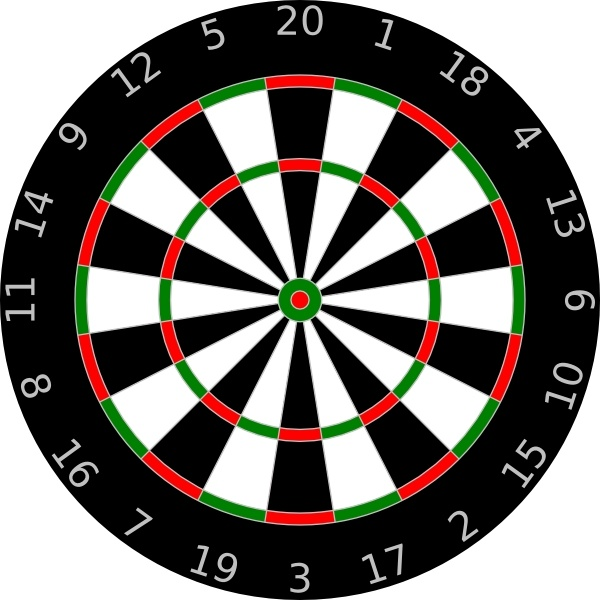 Beers and darts clipart picture royalty free library Dartboard clip art Free vector in Open office drawing svg ( .svg ... picture royalty free library