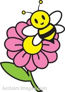 Bee flower panda free. Bees and flowers clipart