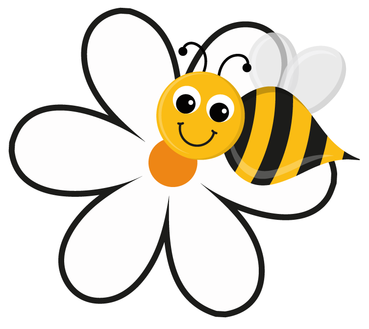 Flower bee clipart