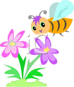 Bees and flowers clipart. Bee flower panda free