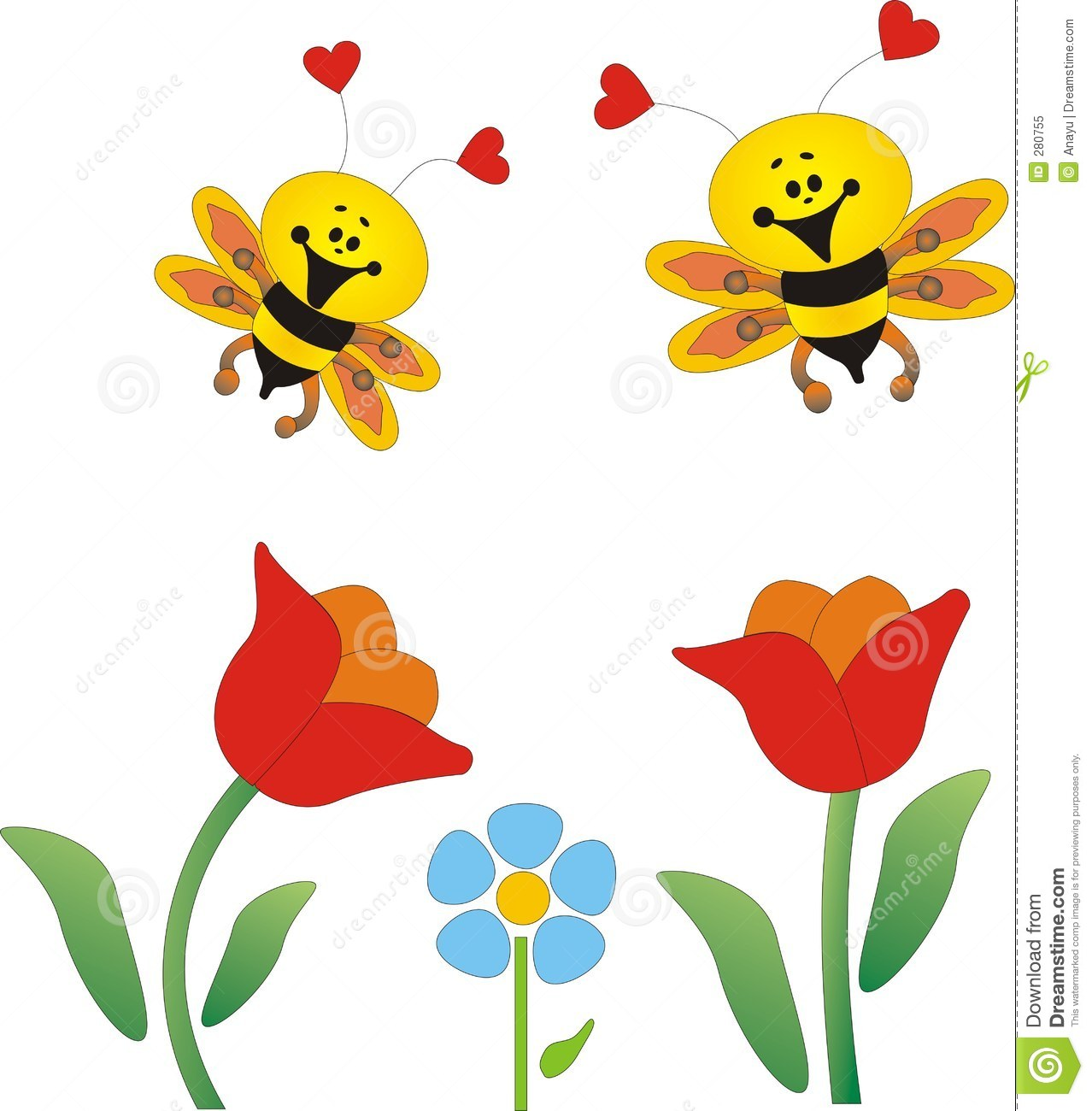 Bees and flowers clipart picture transparent stock Flowers and bees clipart - ClipartFest picture transparent stock