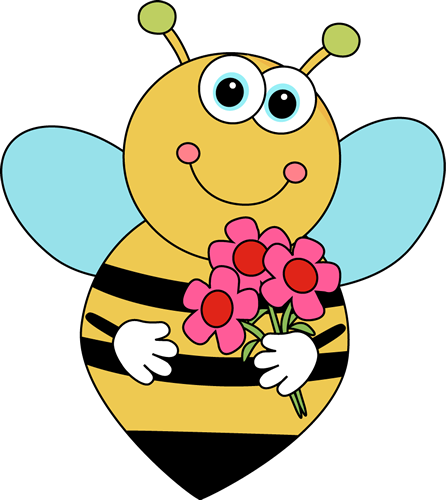 Bees and flowers clipart vector black and white download Bee And Flower Clipart - Clipart Kid vector black and white download