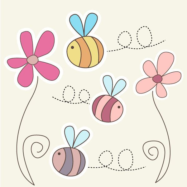 Bees and flowers clipart picture free 17 Best ideas about Flower Clipart on Pinterest | Doodle flowers ... picture free
