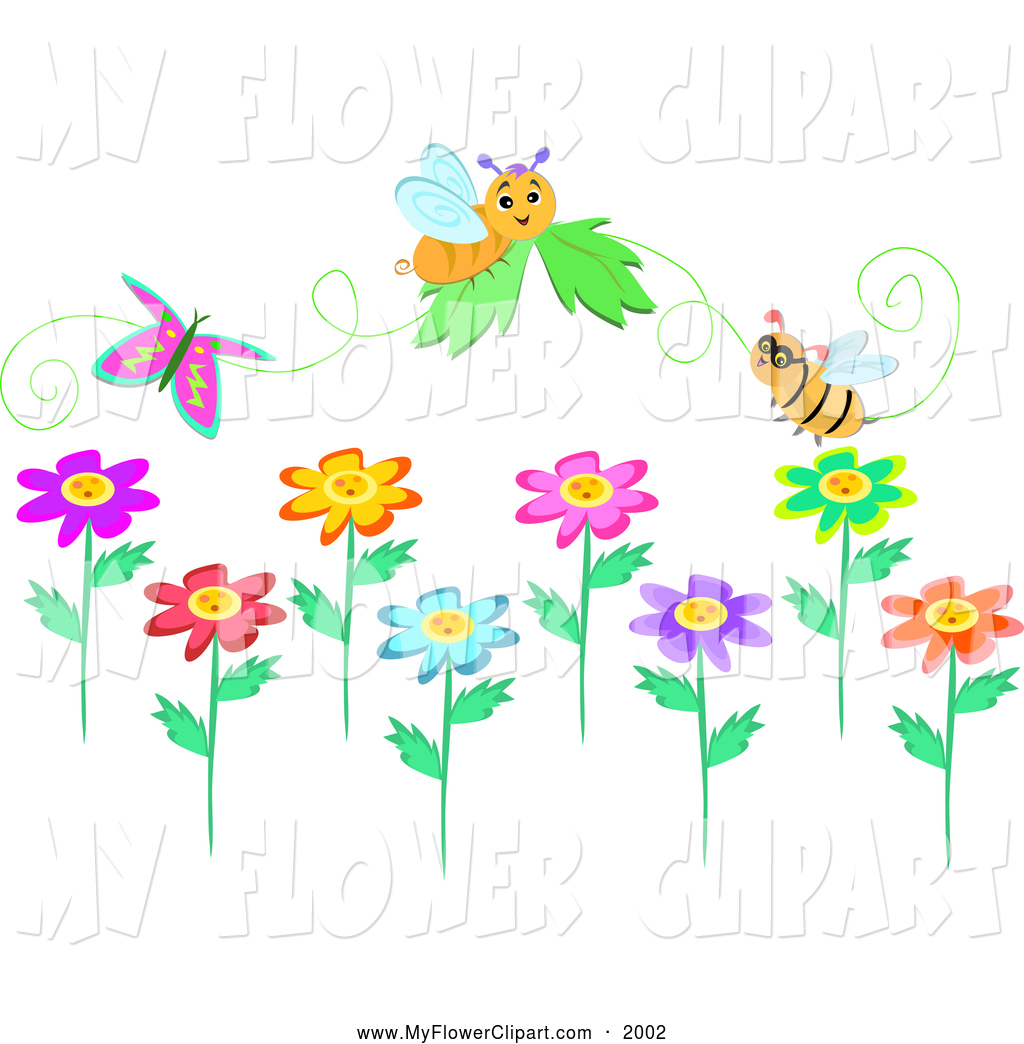 Bees and flowers clipart clipart black and white download Clipart of bees and flowers - ClipartFox clipart black and white download