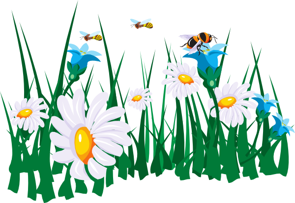 Bees and flowers clipart svg download Bees and flowers clipart - ClipartFest svg download