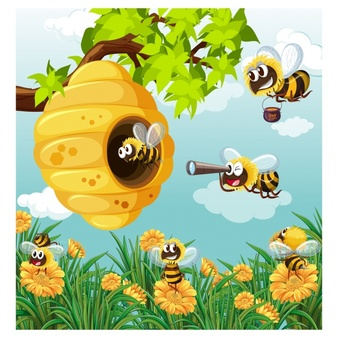 Bees background clipart png library Bee Vectors, Photos and PSD files | Free Download png library
