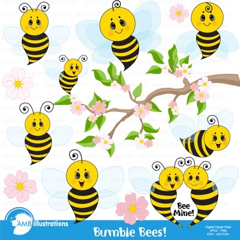 Bees clipart royalty free stock Bumble Bee Clipart, Honey bees clipart, Bee Clipart, Busy Bee Clip Art,  AMB-921 royalty free stock