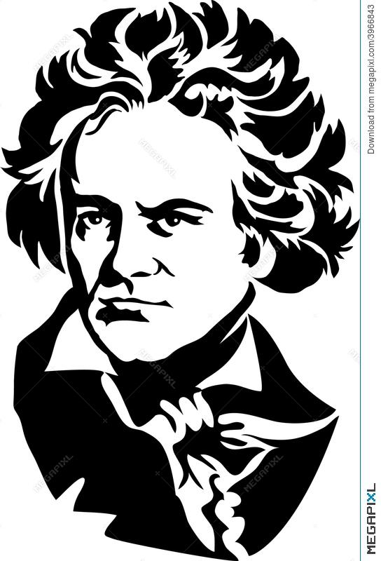Beethoven as a child clipart black and white svg transparent stock Ludwig Van Beethoven/eps Illustration 3966843 - Megapixl svg transparent stock