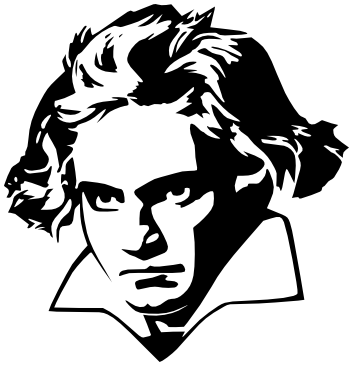 Beethoven as a child clipart black and white banner free download Black Line Background clipart - Black, Art, Head, transparent clip art banner free download