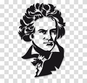 Beethoven as a child clipart black and white clip free stock Ludwig Van Beethoven PNG clipart images free download | PNGGuru clip free stock