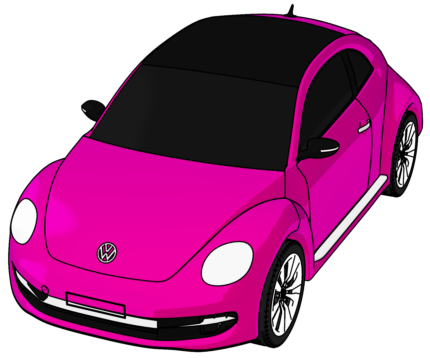 Bug car clipart svg library download Volkswagen Beetle Clipart at GetDrawings.com   Free for personal use ... svg library download