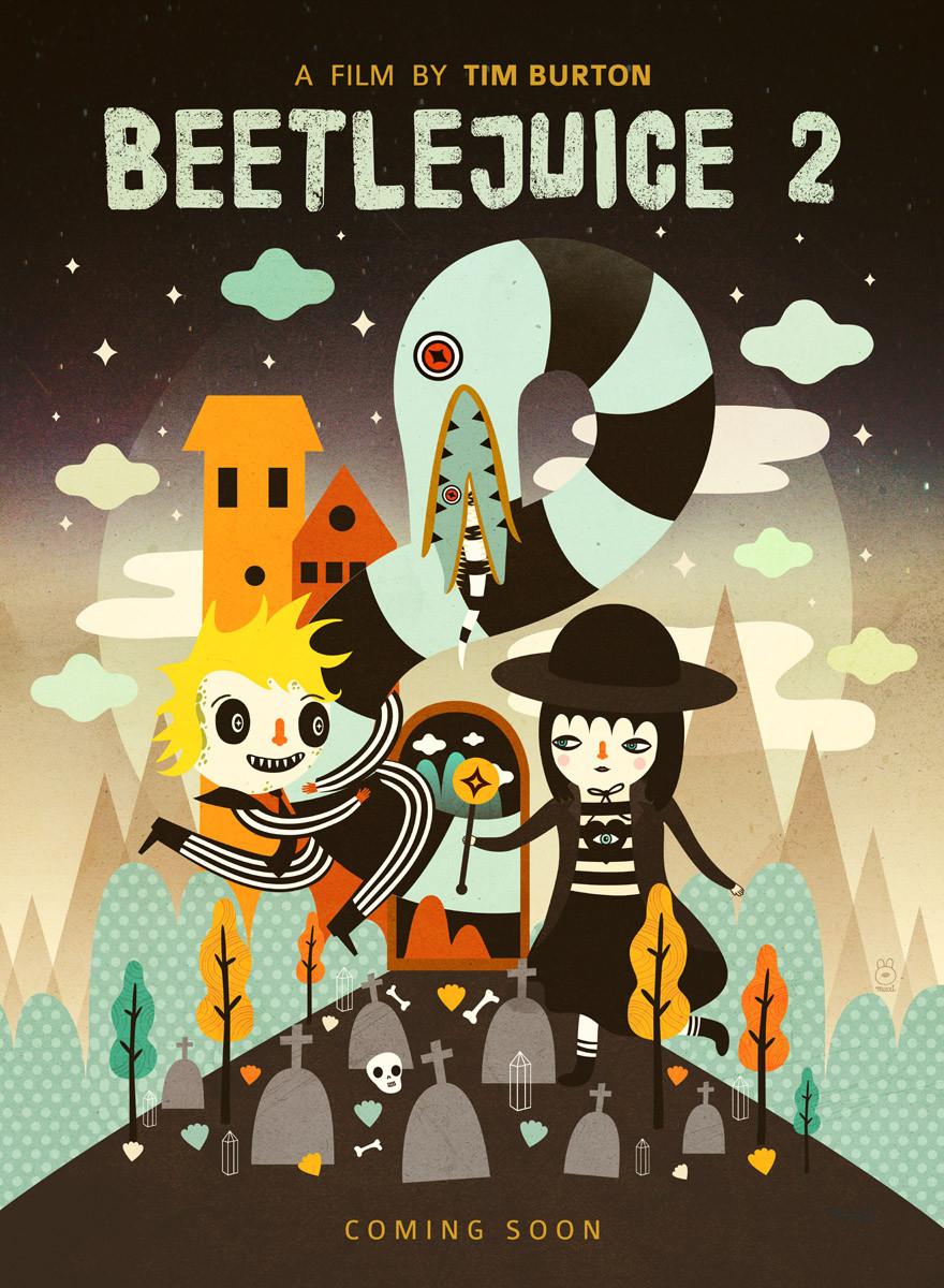 Beetlejuice 2. Fine art print by