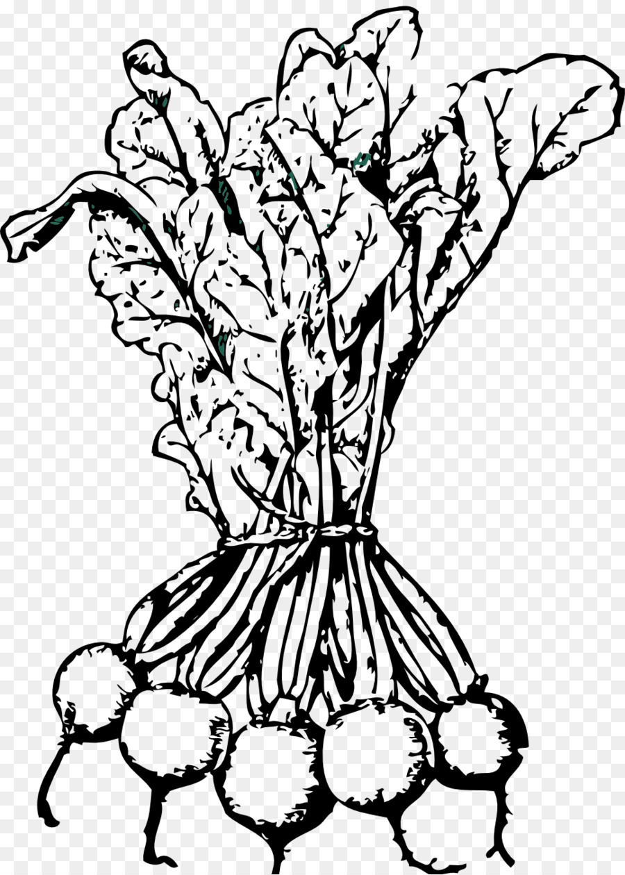 Beetroot clipart black and white banner freeuse library Black And White Flower clipart - Drawing, Vegetable, Illustration ... banner freeuse library