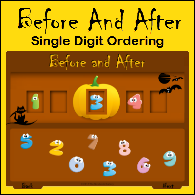 Before and after numbers clipart black and white library Before And After – Single Digit Ordering | The Notebook Gallery black and white library