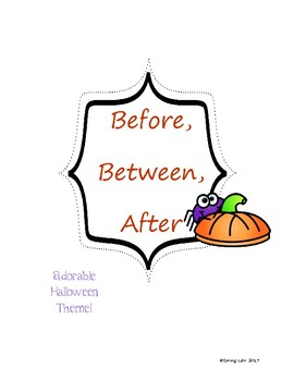Before after and between clipart black and white stock Before, Between, After - Halloween Theme - Easy Prep game and Printables black and white stock