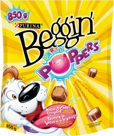 Beggin strips clipart image Beggin Strips Purina® Beggin® Party Poppers™ Bacon & Cheese Flavours Dog  Snacks image