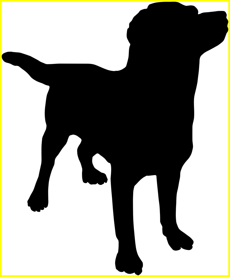 Clipart dog collar banner free stock Shocking Clipart Dog Silhouette Pics Of Cartoon Popular And Ideas ... banner free stock