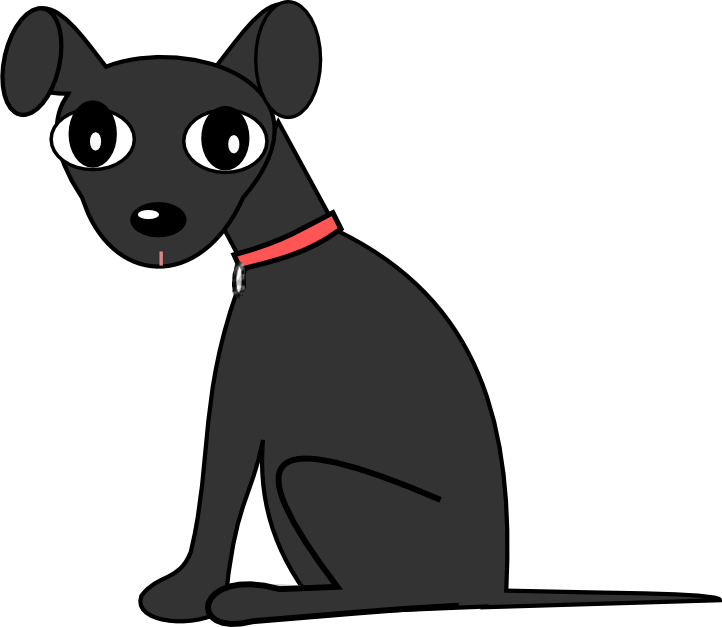 Black and white spotted dog clipart image royalty free Black Dog Clipart Image Group (66+) image royalty free